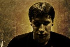 опасный портрет человека Стоковое Изображение RF