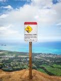 Опасный предупредительный знак скалы Стоковые Фото