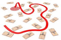 Опасный путь прицелиться концепция Путь стрелки прицелиться через человека Стоковые Изображения RF