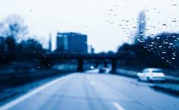 Опасный управлять во время проливного дождя Стоковая Фотография RF
