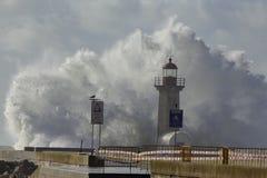 Опасный шторм моря Стоковые Фото
