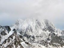 Опасный шторм над высоким Tatras Стоковое фото RF