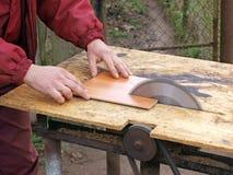 опасный sawing Стоковое фото RF