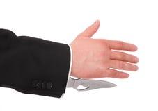 опасный shake руки стоковые изображения rf