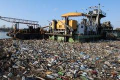 опасный toxic отброса Стоковые Изображения
