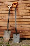 2 лопаткоулавливателя сада Стоковая Фотография