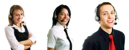 операторы группы центра телефонного обслуживания Стоковая Фотография RF