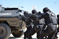 Операторы специального подразделения милиции республики Srpska стоковое изображение