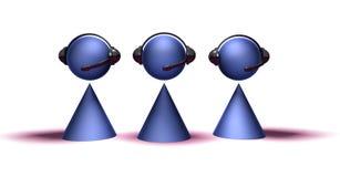 операторы центра телефонного обслуживания Стоковое Изображение