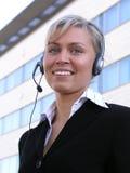 оператор центра телефонного обслуживания Стоковое Фото