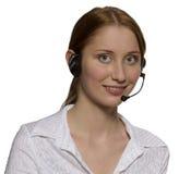 Оператор центра телефонного обслуживания стоковые фото