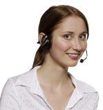 Оператор центра телефонного обслуживания стоковая фотография