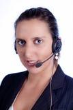 оператор 01 центра телефонного обслуживания Стоковые Изображения