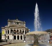 опера дома frankfurt старая Стоковая Фотография