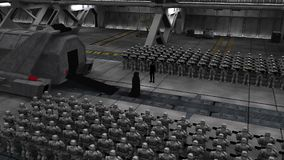 Опера космоса: темный канцлер выходит челнок бесплатная иллюстрация