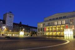 Опера Лейпцига и квадрат Augustus стоковая фотография