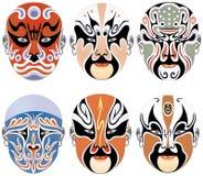 опера Пекин маск характеров Стоковая Фотография RF