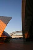 опера Сидней дома гавани моста Стоковые Изображения RF