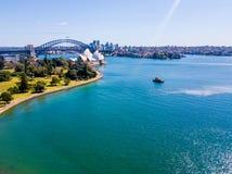 опера Сидней дома гавани Стоковые Изображения RF