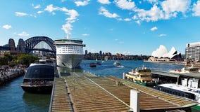 опера Сидней дома гавани моста Стоковое Изображение RF