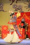 Опера танц-Пекина шпаги: Прощание к моей содержанке Стоковые Изображения RF