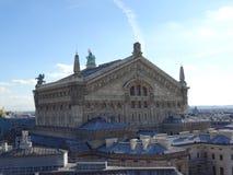 Опера Garnier увиденное от крыш Парижа Стоковая Фотография RF