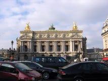 Опера Opéra национальный de Париж одно Парижа самых старых заведений своего вида в Европе Стоковое Фото