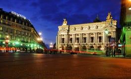 опера paris ночи Стоковая Фотография RF