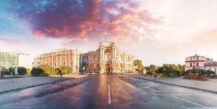 Оперный театр в Одессе, Украине Театр оперы и балета государства Одессы академичный стоковые фото