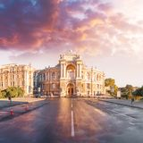 Оперный театр в Одессе, Украине Театр оперы и балета государства Одессы академичный стоковое фото rf