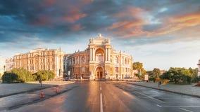 Оперный театр в Одессе, Украине Театр оперы и балета государства Одессы академичный стоковое изображение