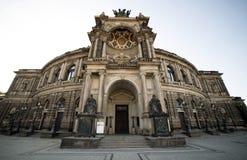 Оперный театр Дрездена Стоковое фото RF