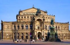 Оперный театр Дрезден Стоковые Изображения