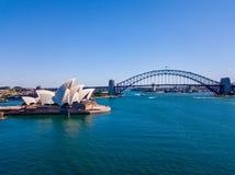 Оперный театр и мост Сиднея Стоковая Фотография RF