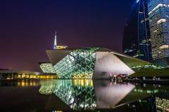 Оперный театр Китая Гуанчжоу стоковое изображение