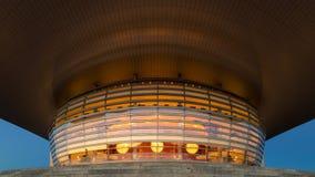 Оперный театр Копенгаген к ноча стоковые фотографии rf