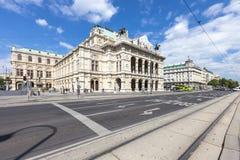 Оперный театр положения вены - Австрии Стоковые Фотографии RF