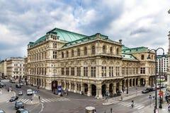 Оперный театр положения вены в городе вены Австрии Стоковые Изображения RF