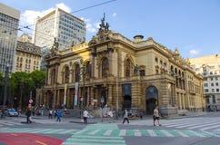 Оперный театр Сан-Паулу стоковые изображения
