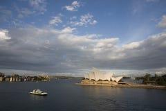 Оперный театр Сиднея, Новый Уэльс, Австралия Стоковые Изображения RF