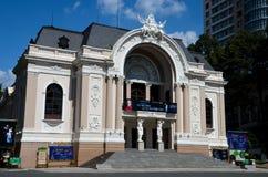 Оперный театр Хошимин Вьетнам Сайгона Стоковое Изображение RF