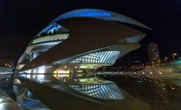 Оперный театр, Reina София в Валенсии, Испания Палау de les Искусства Стоковые Фотографии RF