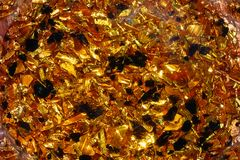 Опилк металла и нежное графическое влияние предпосылка золотистая Стоковая Фотография RF