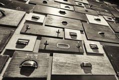 опиловка шкафа старая Стоковое Изображение
