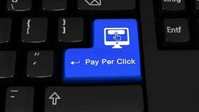 101 Оплата в движение вращения щелчка на кнопке клавиатуры компьютера иллюстрация вектора