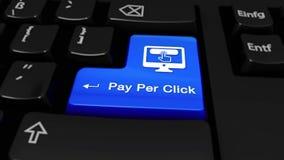 102 Оплата в движение щелчка круглое на кнопке клавиатуры компьютера бесплатная иллюстрация
