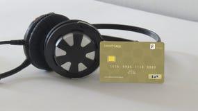 Оплата для альбомов музыки онлайн стоковые изображения