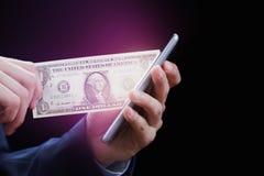 Оплата, пожертвование, сеть, наличные деньги и cryptocurrency концепции онлайн E-банк и электронная коммерция Приз в лотереи, каз Стоковые Изображения RF