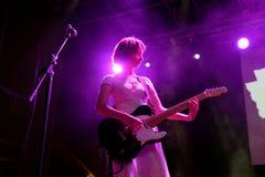 Оплачьте диапазон в концерте на фестивале BAM стоковая фотография rf