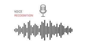 Опознавание голоса Личный помощник и опознавание голоса Поиск голоса, технология поиска Тональнозвуковое идентификация иллюстрация вектора